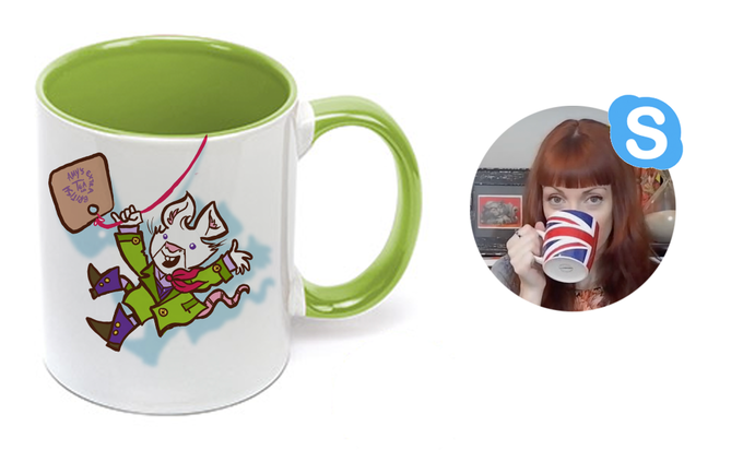 Have a cuppa tea with Amy and the team, with a very special cup!