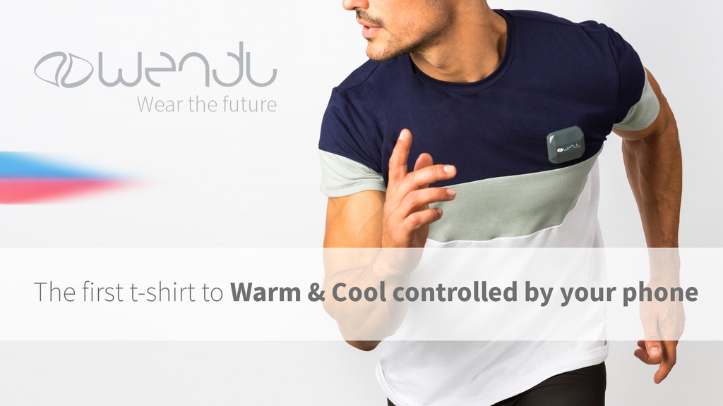 The first t-shirt to cool and warm controlled by your phone project video thumbnail