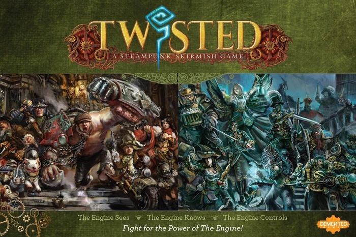 Twisted is a steampunk tabletop skirmish game: experience world-class 32mm miniatures and an engaging universe dominated by the Engine!