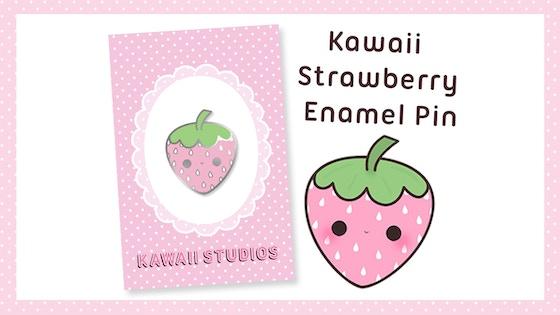 Kawaii Studios Strawberry Enamel Pin