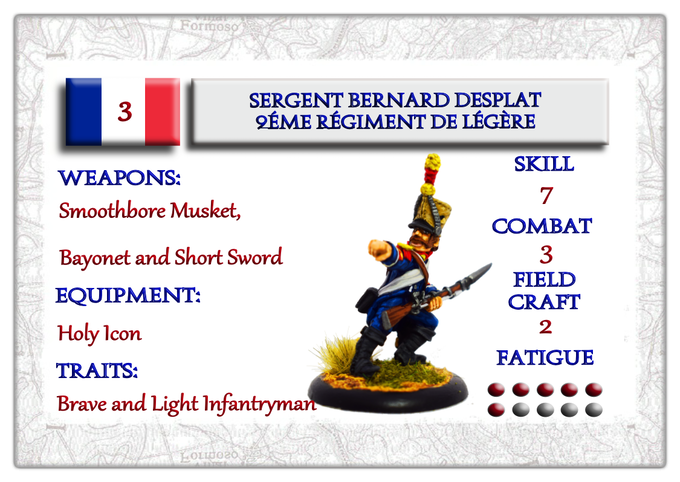 Character Card French NCO