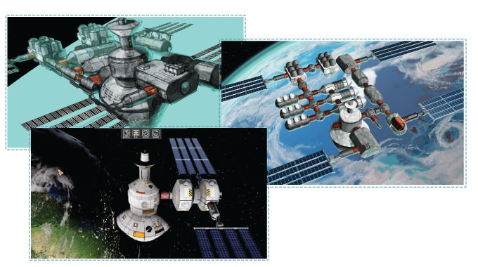Space Station Concept & Model