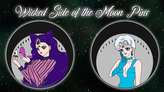 Wicked side of the Moon - Enamel Pins