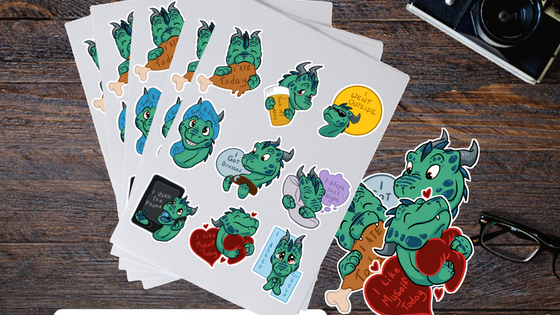 Little Dragon Mental Health Affirmation Stickers