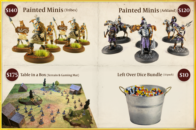 The prices for painted miniatures are on top of the cost of purchasing a starter box, and is approximately $6/mini.