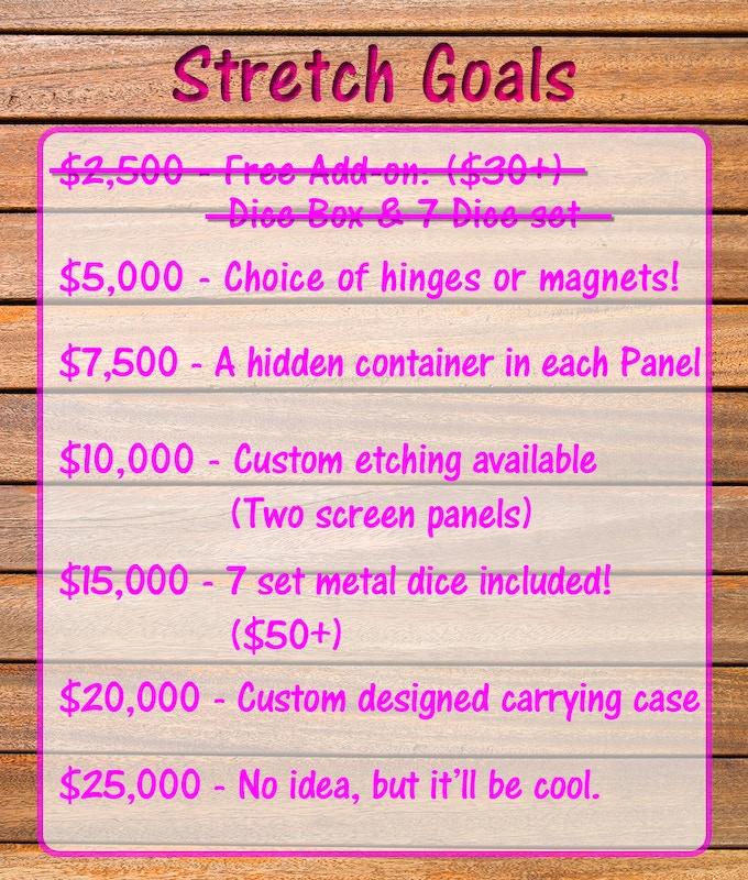 Stretch Goals! Next goal: $5000!!!