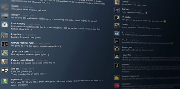 Over 5000 gamers helped to get INSIGHT greenlit on Steam. Click to view their comments and feedback.