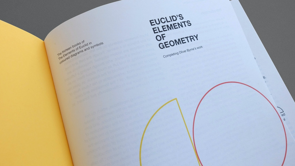 Finishing the work of Oliver Byrne and complete with his style - the thirteen books of Euclid's Elements. Projects of Earth.
