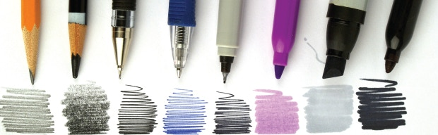 100g paper can take on pencils, pens and even some markers.