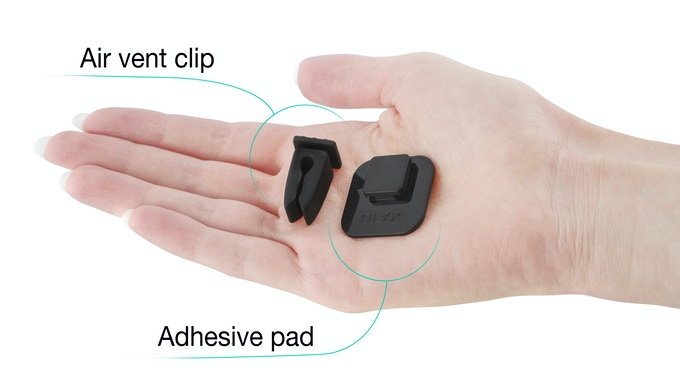 Every QLYX comes with air vent clip and adhesive pad to provide a perfect grip. Both of them were tested under multiple conditions.