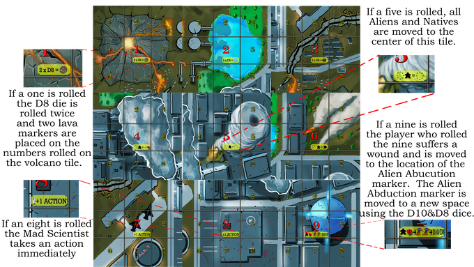 City side of double sided map for base game shown