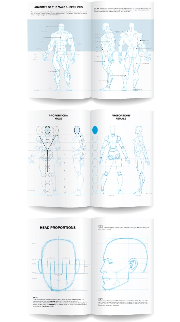 How To Draw Super Heroes Sketchbook By Mark Kokavec Kickstarter