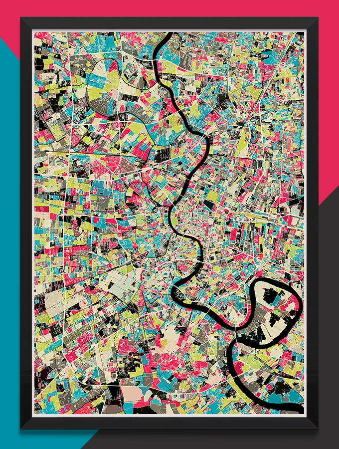 modern map art prints by mini cloud studios kickstarter