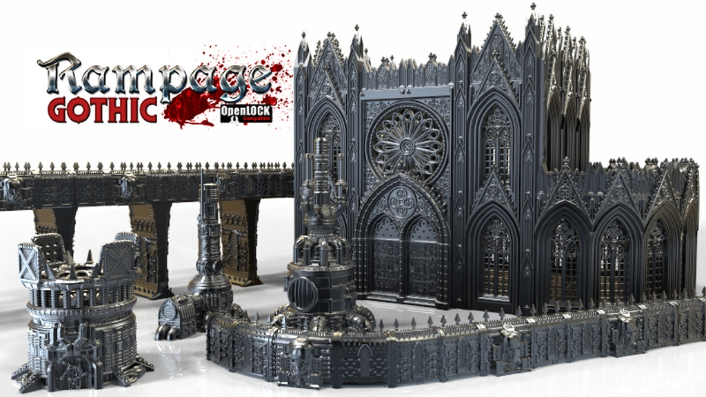 Rampage Gothic - 3d Printable Scenery Building System project video thumbnail