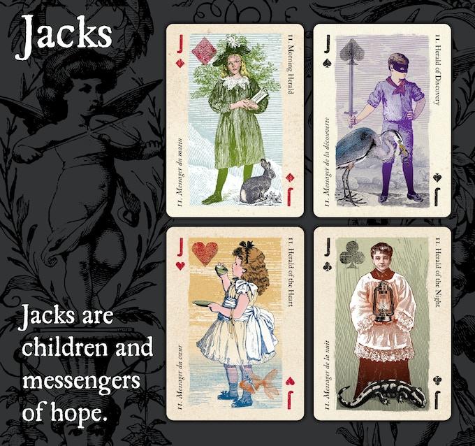 cartomancer poker deck  archetypal playing cardsalain