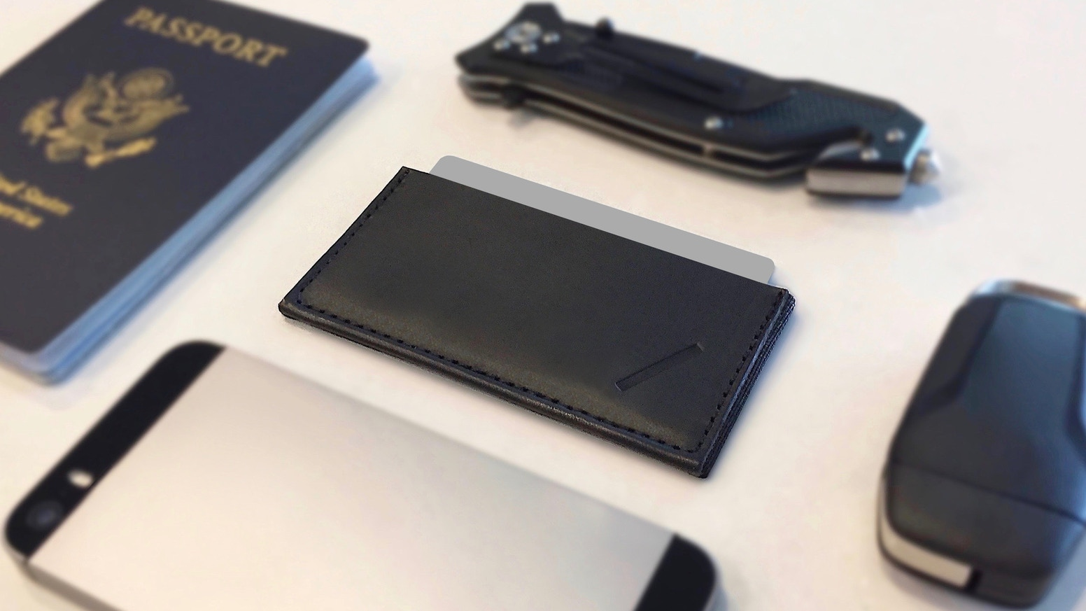 This updated slim wallet carries everything you need in style. A simple design with minimalists in mind. Handcrafted in the USA.