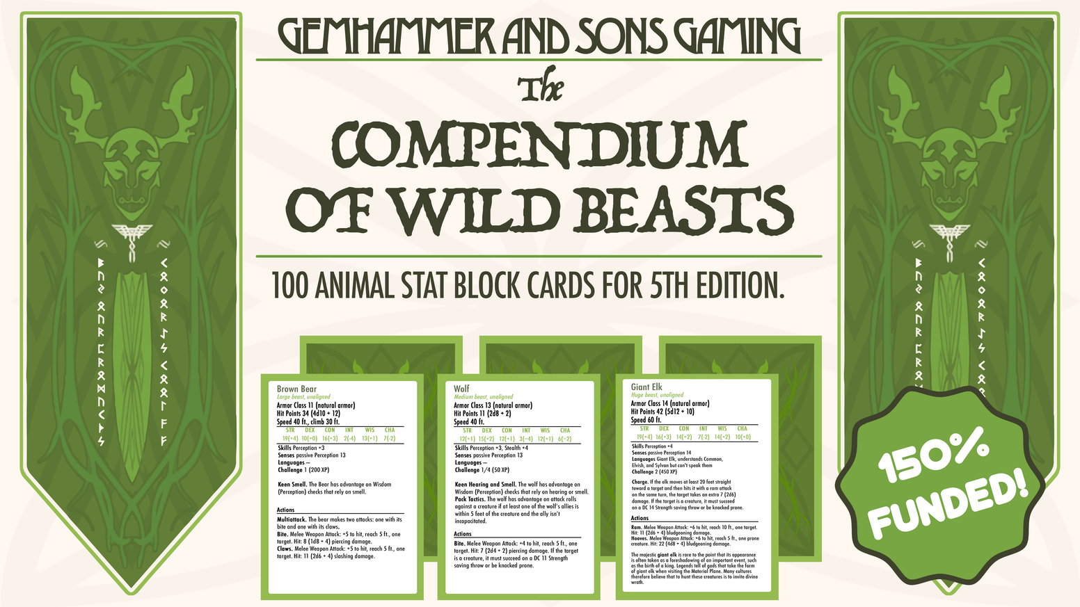 The Compendium Of Wild Beasts 5e By Gemhammer Games Kickstarter