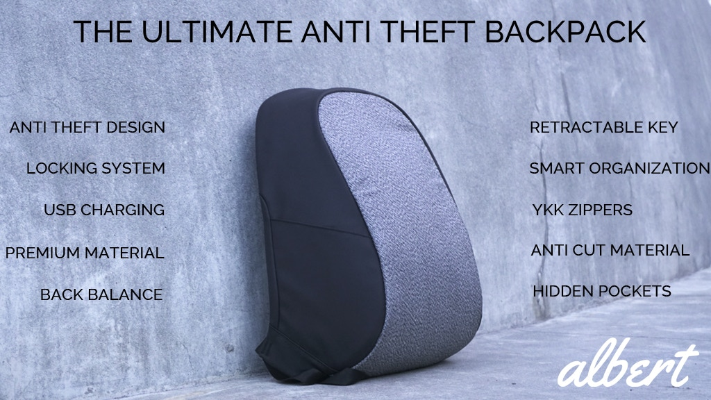 Albert - The Best Everyday Anti Theft Backpack project video thumbnail