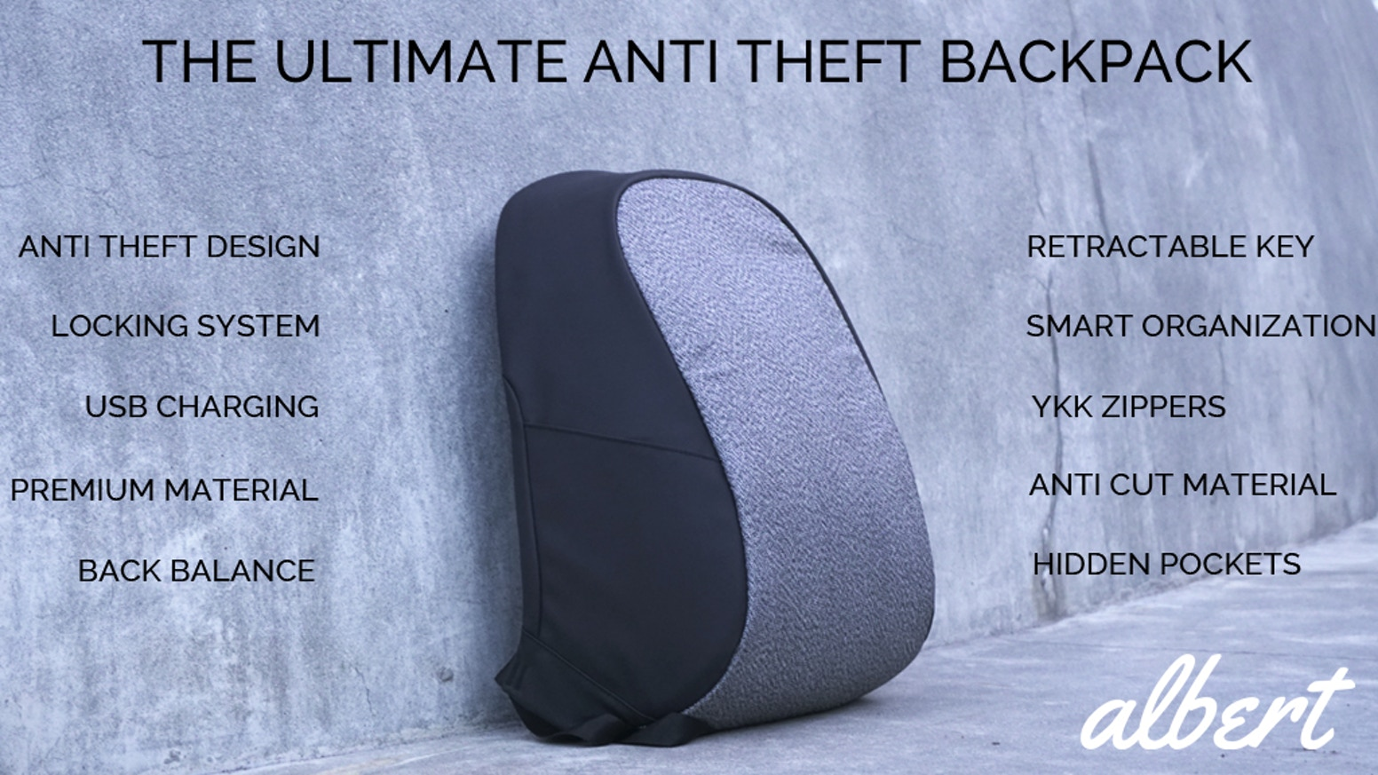 Hidden Zippers and Retractable Lock makes this bag one of the most functional everyday backpacks on the market!