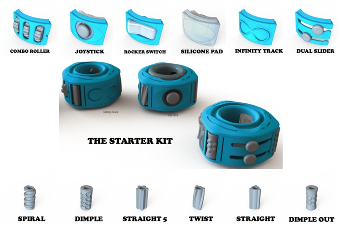 The Starter Kit Includes 6 Inserts and 6 Rollers and 1 Base