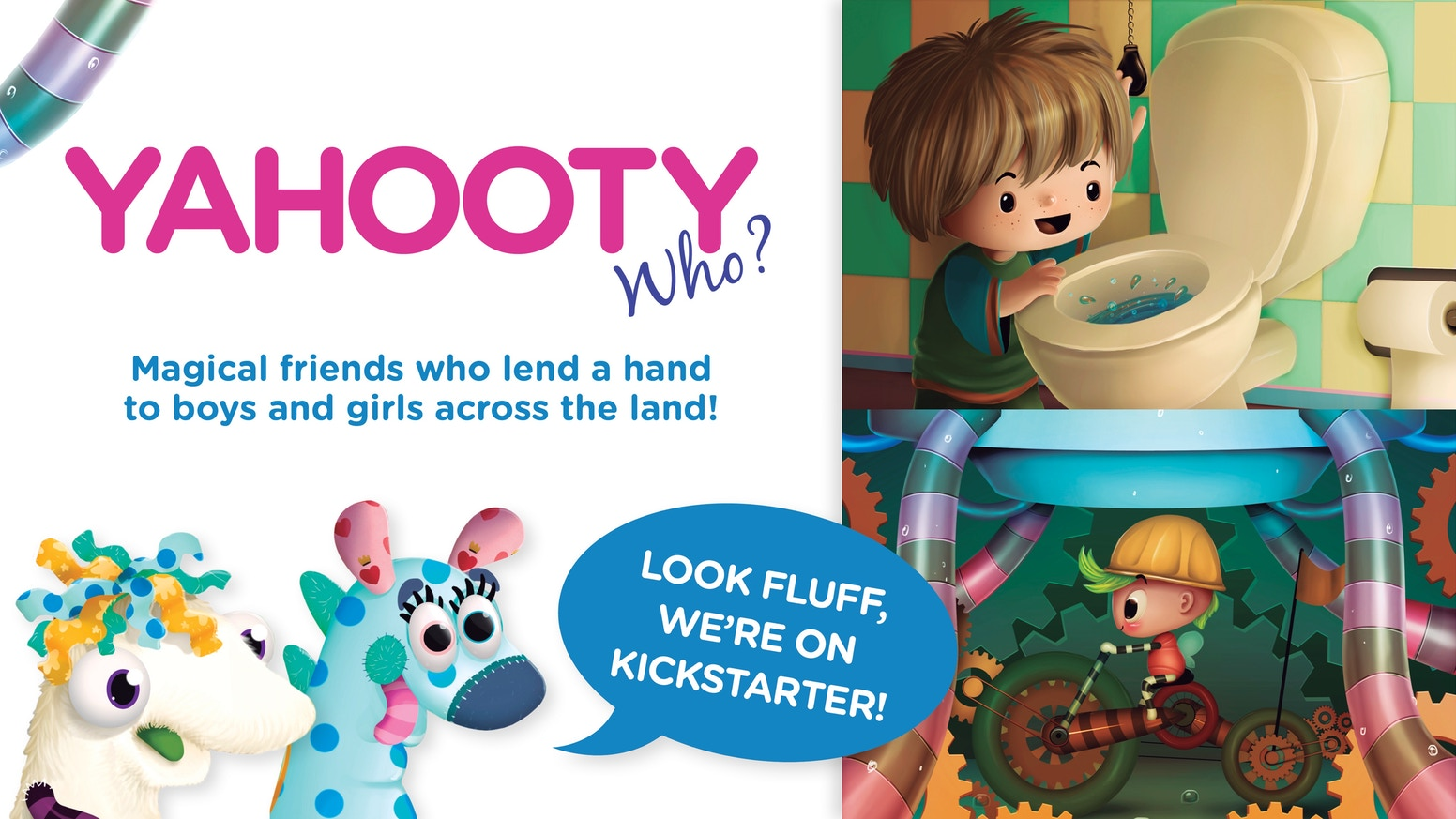 "Top 1% of ALL publishing projects on Kickstarter EVER! ""Yahooty Who?"" characters teach children to think about & investigate the world around them. Gann Memorials is no longer associated with this project and did not produce these products."