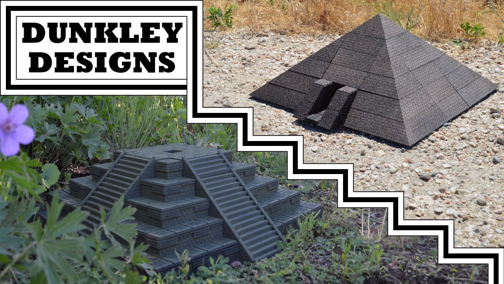 Dunkley Designs - 3D Printable Pyramid & Ziggurat Terrain project video thumbnail