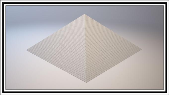 14 Cube Wide Base Pyramid