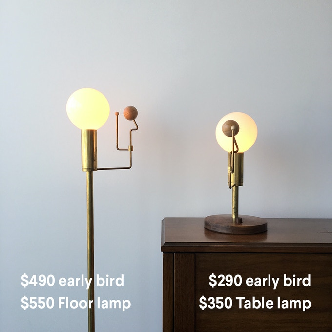 Brass table or floor lamp + 1 Personalized Calibration Print