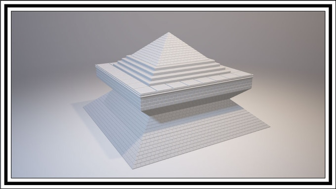 Pyramid layers can be placed upside down to achieve this look