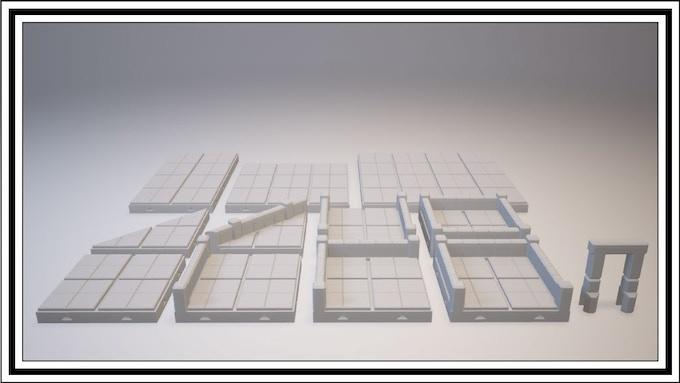 UNLOCKED - 4 Square Tile Set