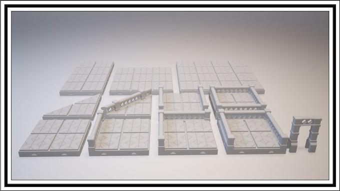 UNLOCKED - Cross Lattice Tile Set