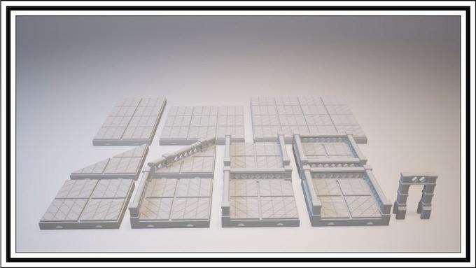 UNLOCKED - Diamond Lattice Tile Set