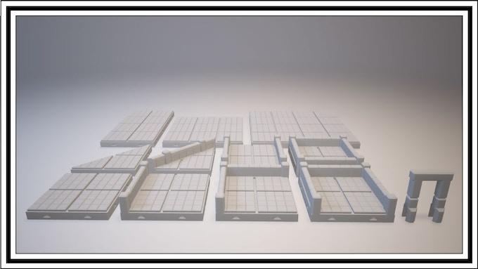 UNLOCKED - Grid Tile Set