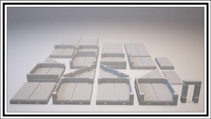 UNLOCKED - Long Wooden Tile Set