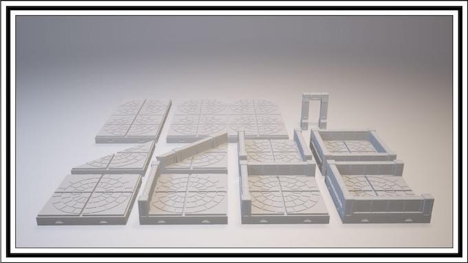 UNLOCKED - Radial Tile Set