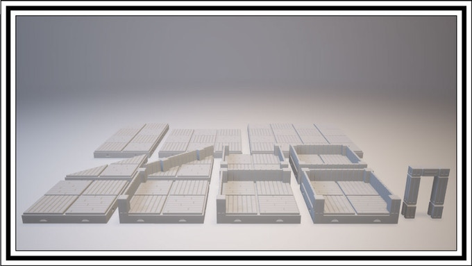 UNLOCKED - Wooden Tile Set