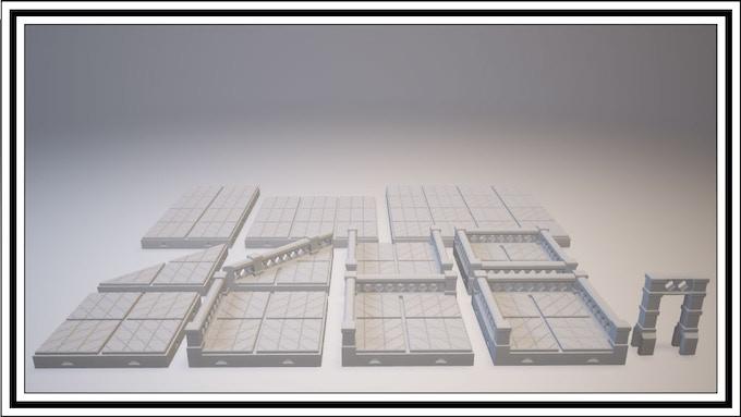 $1700 - X Lattice Tile Set