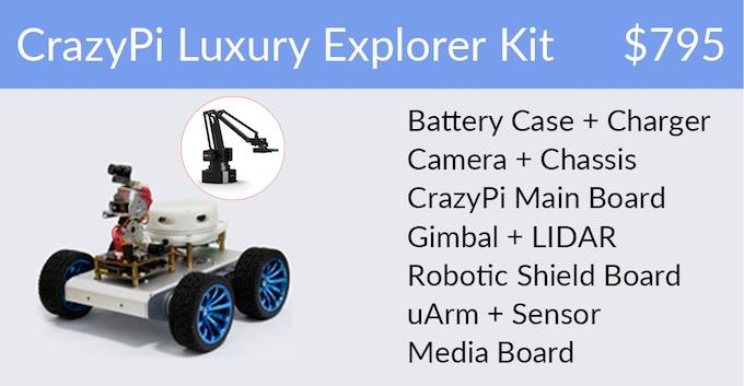 CrazyPi - The True Robot Kit For DIY Robot Lovers by CrazyPi