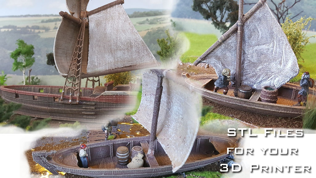 3D printable ships and accessories (STL Files) project video thumbnail