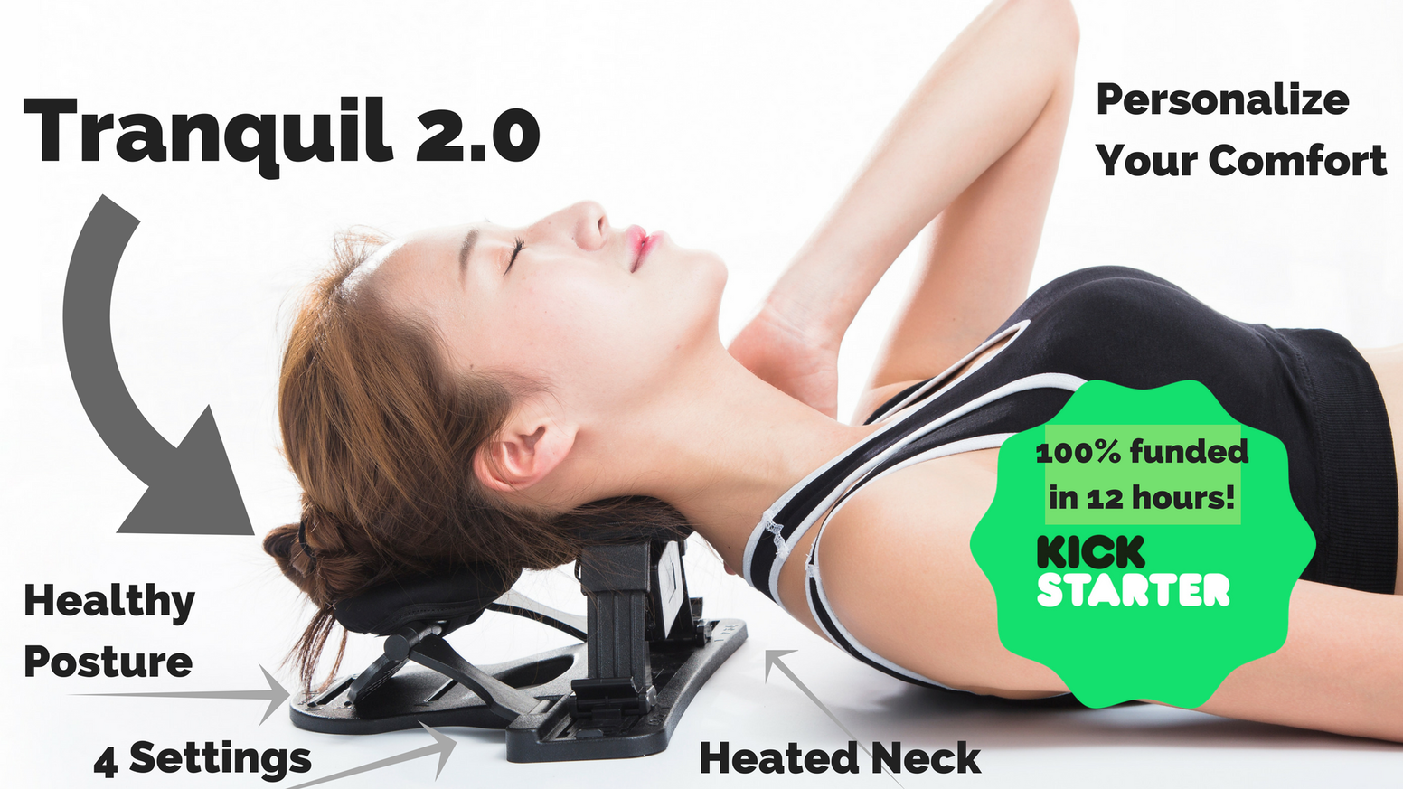 Stop ignoring daily stress! Get comfort & ideal alignment - Tranquil 2.0 supports your posture by decompressing your neck.