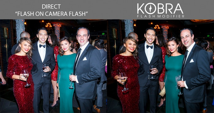 The KOBRA flash modifier generates softer fabric & skin tones.