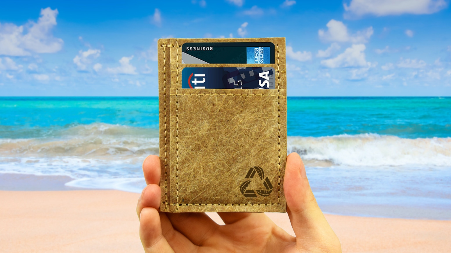 The everyday minimalist wallet forged from recycled banana trees on a little island called Kosrae.