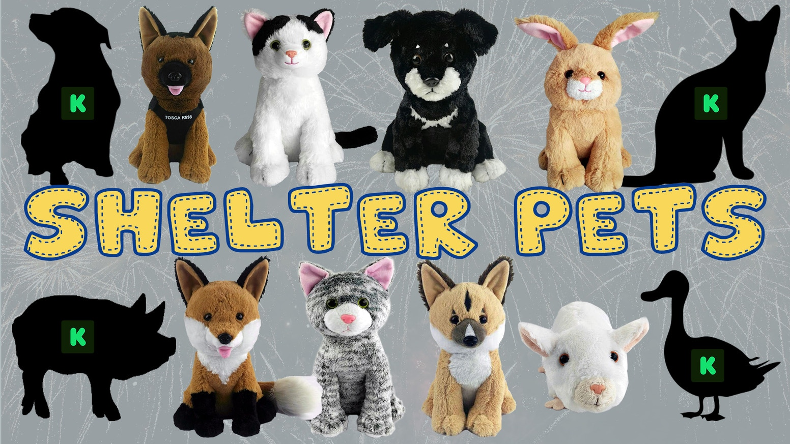 Shelter Pets Plush Toys Based On Real Adopted Pets By Shelter Pets