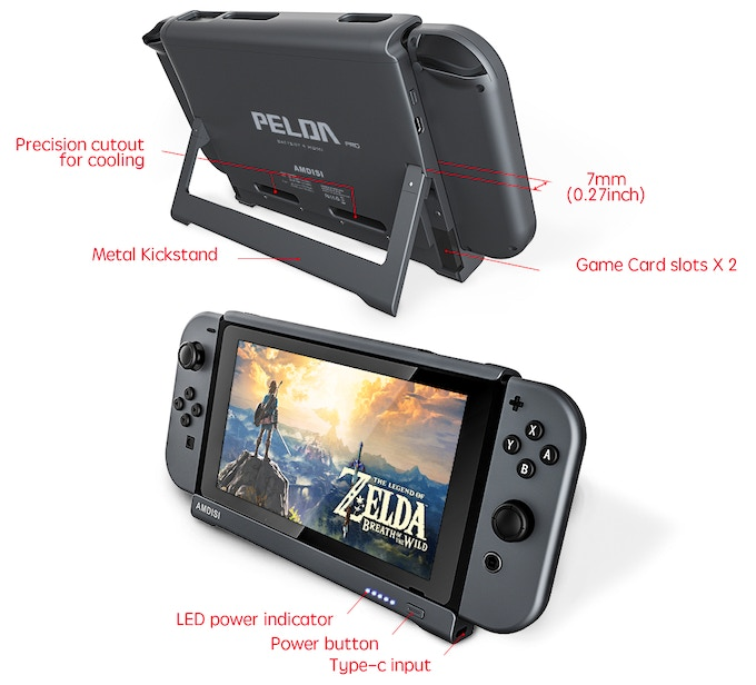 PELDA Pro, The First Nintendo Switch Battery Case with HDMI