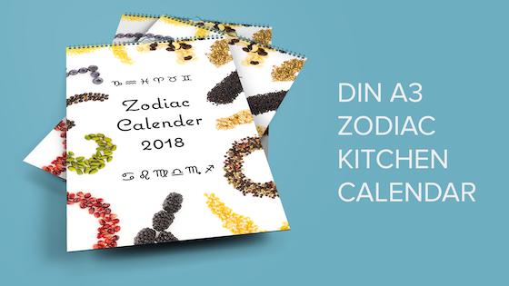 2018 Zodiac Kitchen Calendar