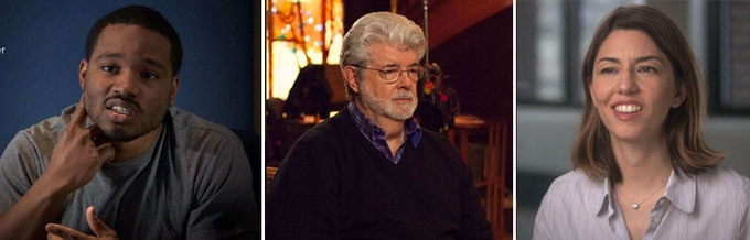 L to R: Ryan Coogler, George Lucas, Sofia Coppola