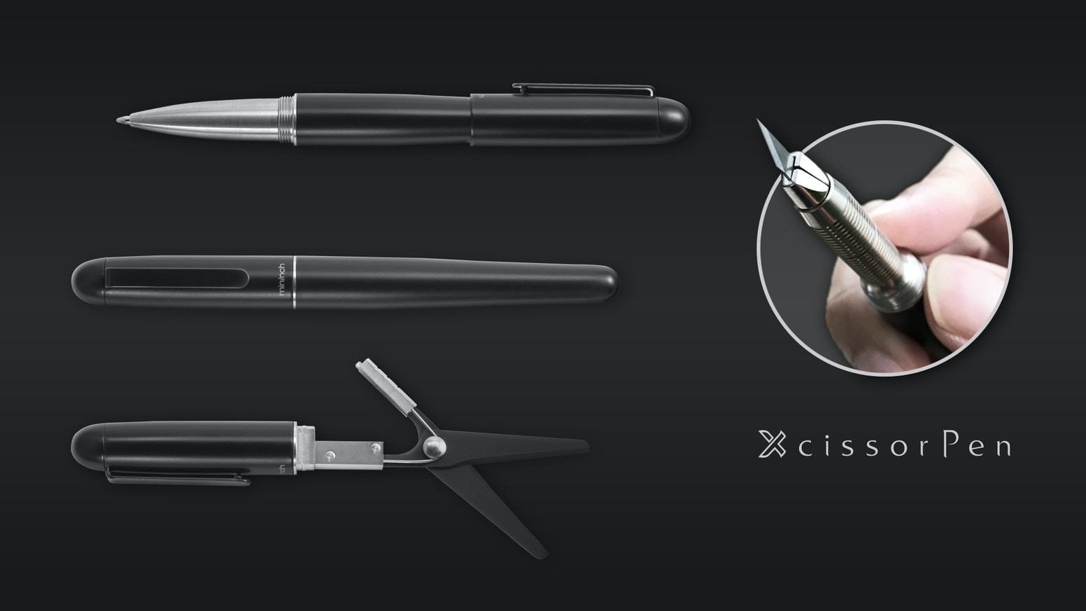 Pen + Scissors. A super-cool invention will get you on the cutting edge. You'll love the utility and modern look of this must-have EDC.