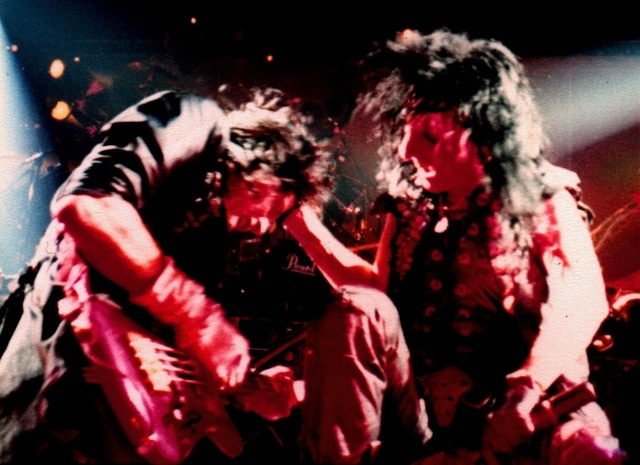 Me on stage with Alice Cooper 1985
