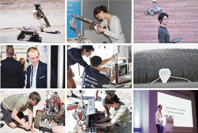 2012-16 - building Mars rover prototypes; 2014-15 - building and sending our experiment to stratosphere; 2014-17 - taking part in conferences such as International Astronautical Congress