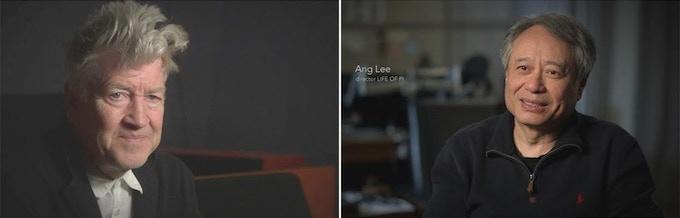 L to R: David Lynch, Ang Lee
